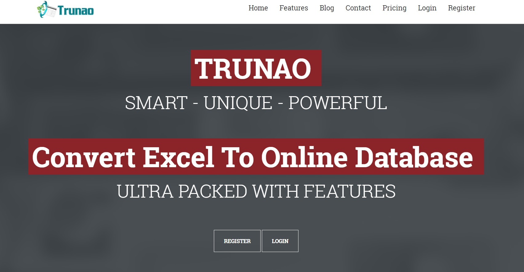 Free online database software Trunao